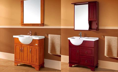 Fregaderos de cer mica lavabos de cer mica vanidad for Gabinetes de bano en madera